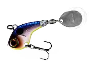 Jackall Deracoup Tail Spinner 1/2oz Clear Shad Nickel