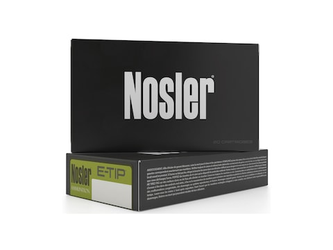 Nosler E-Tip Ammunition 223 Remington 55 Grain E-Tip Varmint Lead-Free Box of 20