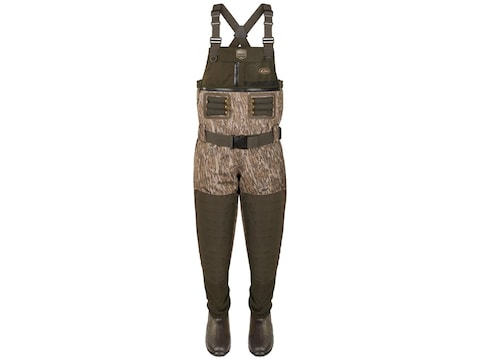 Drake Guardian Elite 4-in-1 Chest Waders Polyester Mossy Oak Bottomland Camo Men's 9- B...