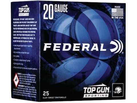 "Federal Top Gun Sporting Ammunition 20 Gauge 2-3/4"" 7/8 oz"