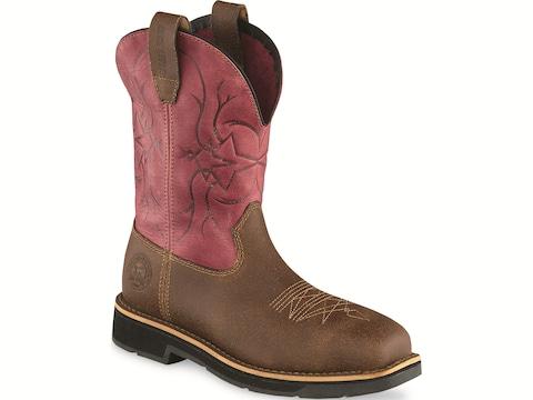 "Irish Setter Walker 9"" Pull-On Steel Toe Work Boots Full Grain Leather Women's"