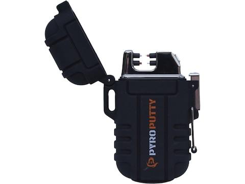 Pyro Putty Dual Arc Plasma Waterproof Lighter Black