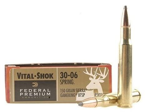 Federal Premium Ammunition 30-06 Springfield 150 Grain Sierra GameKing Soft Point Boat ...