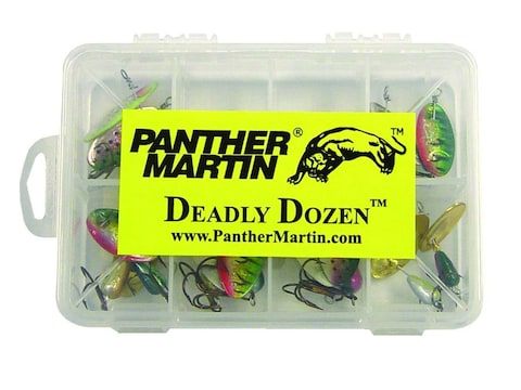 Panther Martin Deadly Dozen Holographic Spinner Kit Rainbow Trout/Chartreuse/Silver/Gol...