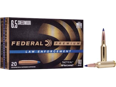 Federal Premium Law Enforcement Ammunition 6.5 Creedmoor 140 Grain Sierra Tactical Tipp...