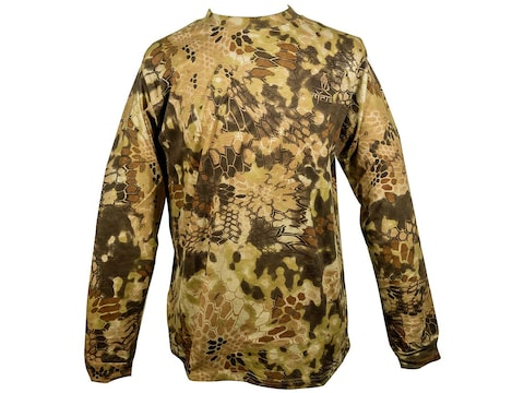 Kryptek Men's Stalker Long Sleeve T-Shirt Cotton