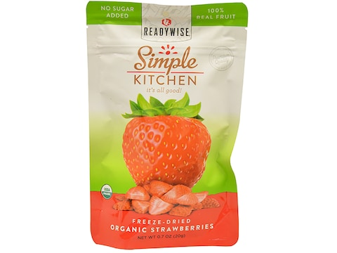 ReadyWise Simple Kitchen Organic Strawberries Freeze Dried Food