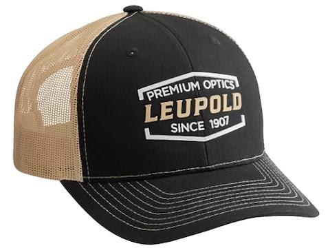 Leupold Premium Weld Snap Back Trucker Cap Black/Vegas Gold