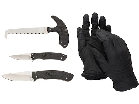 Browning Primal 4 Piece Processing Set 8Cr13MoV Stainless Steel Blades Polymer Handles ...
