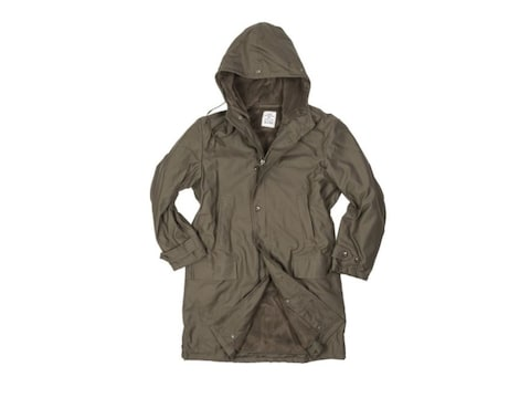 Military Surplus German Long Parka With Liner Olive Drab