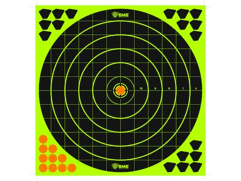 "SME Splatter Target 12"" Self-Adhesive Bullseye Package of 6 with 168 Pasters"
