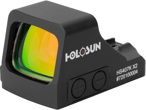 Holosun HS407K-X2 Reflex Sight 1x 6 MOA Dot Reticle Matte