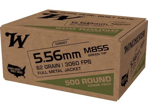 Winchester USA Ammunition 5.56x45mm NATO 62 Grain M855 SS109 Penetrator Full Metal Jacket