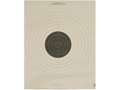 NRA Official International Pistol Targets B-19 25/50 Yard Slow Fire Paper Pack of 100