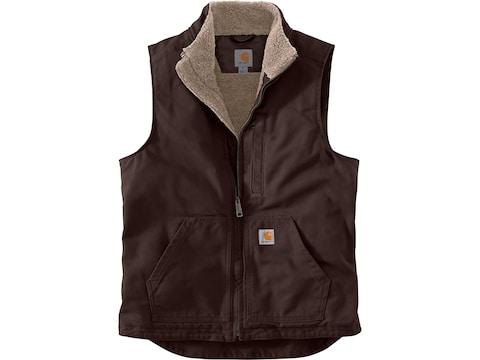 Carhartt Men's Washed Duck Sherpa Lined Mock Neck Vest