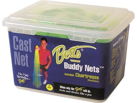 """Betts Buddy Chartreuse Cast Net 3/8"""" Mesh"""