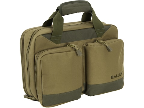 Allen Attache Double Pistol Case with Fold Out Shooting Mat Tan
