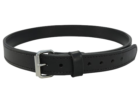 "Lenwood Leather Hybrid Belt 1.5"" Steel Buckle Leather and PVC"