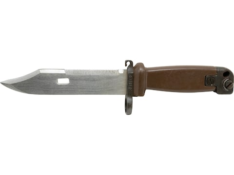 Military Surplus Bayonet with Scabbard East German Pattern AK-47 Steel with Polymer Han...
