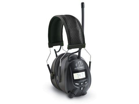 Walker's Passive Digital AM/FM Radio Earmuffs (NRR 25dB) Black