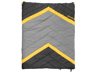 """Browning Side-By-Side 0 Degree Sleeping Bag 68"""" x 80"""" Nylon Clay and Black"""