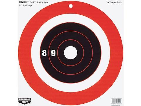 "Birchwood Casey Rigid 12"" Bullseye DH Tagboard Target Package of 10"