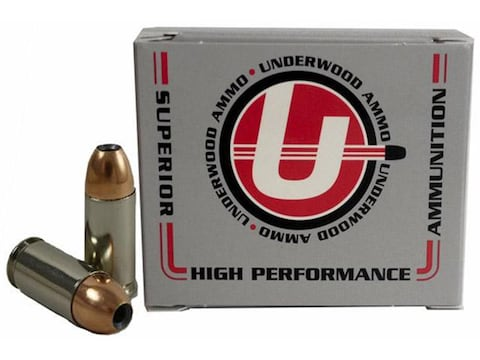 Underwood Ammunition 9mm Luger 124 Grain Jacketed Hollow Point Box of 20
