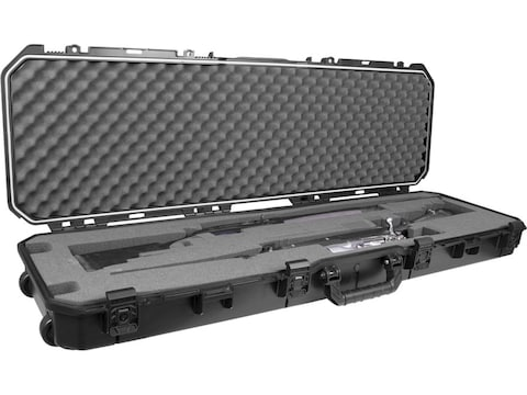"""Plano AW2 All Weather Series Double Rifle/Shotgun Case with Wheels 52"""" Polymer Black"""