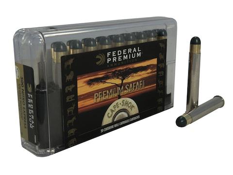 Federal Premium Safari Ammunition 500 Nitro Express 500 Grain Woodleigh Hydrostatically...