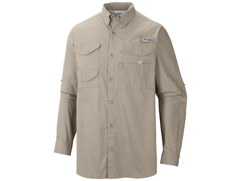 Columbia Men's PFG Bonehead Button-Up Long Sleeve Shirt Cotton