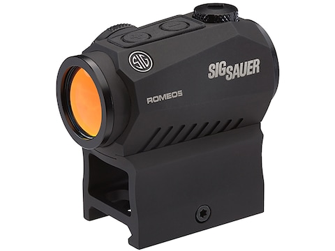 Sig Sauer ROMEO5 Compact Red Dot Sight 1x 20mm 1/2 MOA Adjustments 2 MOA Dot Reticle Pi...