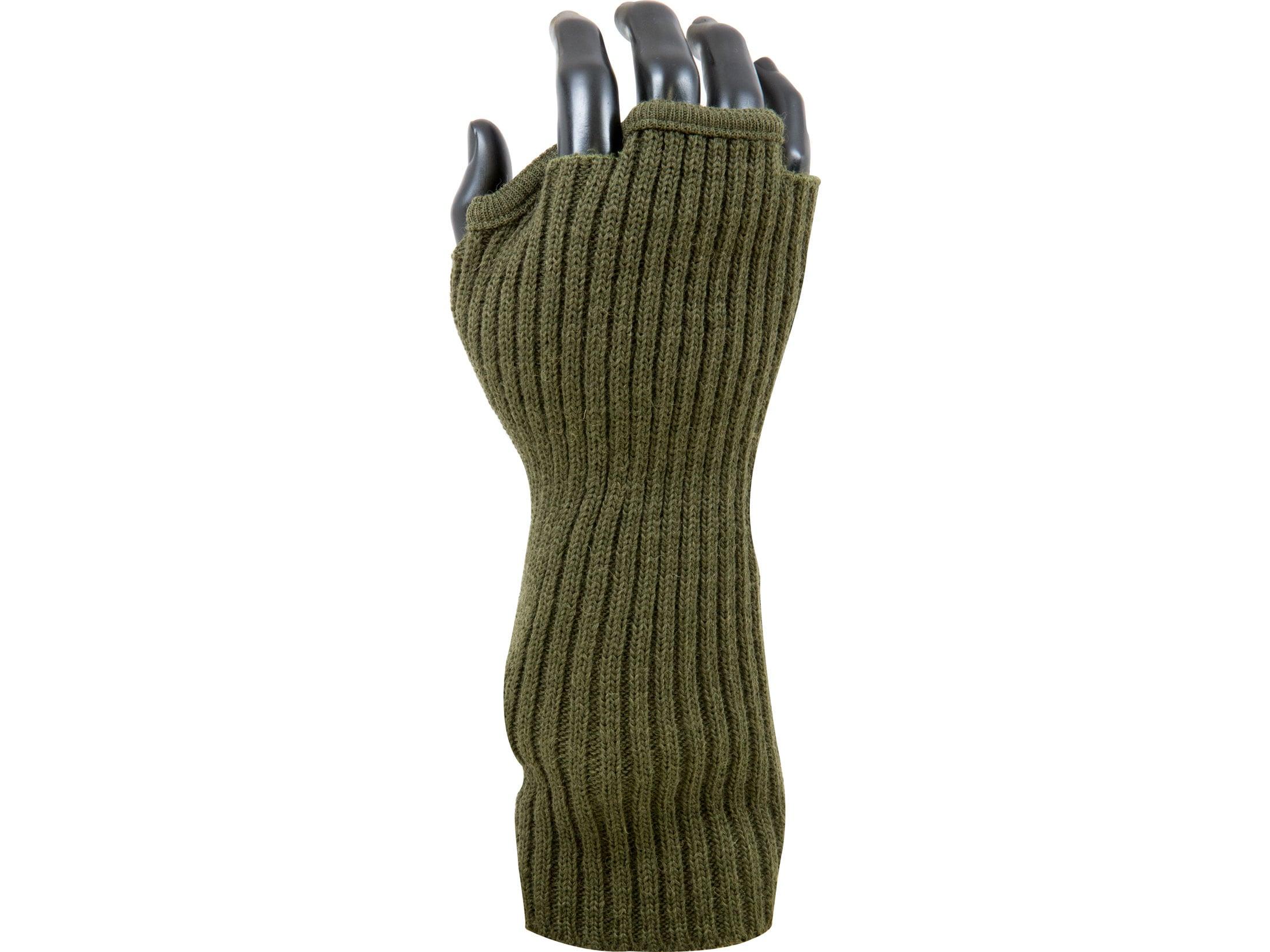 Military Fingerless Wool Gloves USA Made