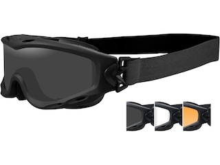 Wiley X Spear Tactical Goggles Matte Black Frame/Smoke Gray, Clear, & Light Rust Lenses