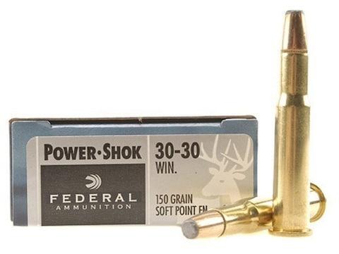 Federal Power-Shok Ammunition 30-30 Winchester 150 Grain Soft Point Flat Nose Box of 20