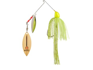 Strike King KVD Finesse Double Willow Spinnerbait 1/2oz Super Chartreuse Nickel/Gold