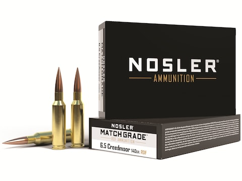 Nosler Match Grade Ammunition 6.5 Creedmoor 140 Grain RDF Hollow Point Boat Tail Box of 20