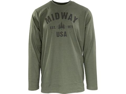 MidwayUSA Men's Long Sleeve T-Shirt Cotton Blend