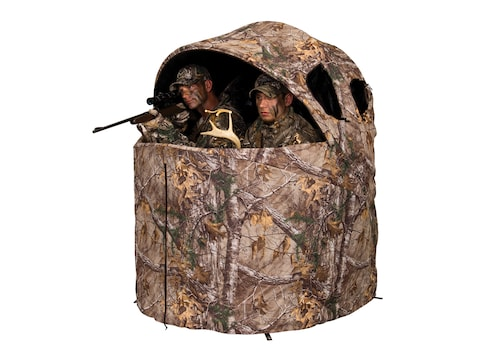 """Ameristep Two-Man Chair Ground Blind 56"""" x 21"""" x 57"""" Polyester Realtree Xtra Camo"""