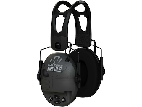 Walker's FireMax Electronic Earmuffs with Rechargeable Battery (NRR 23dB) Black