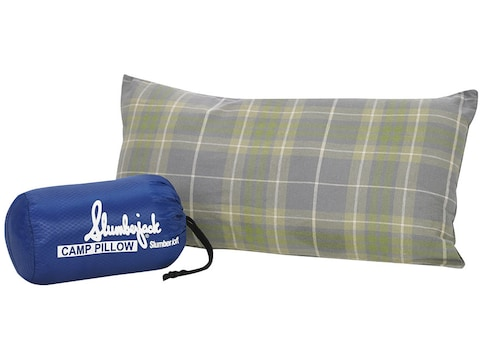 "Slumberjack Slumberloft HP Camp Pillow 10"" x 20"" Cotton Flannel Plaid"