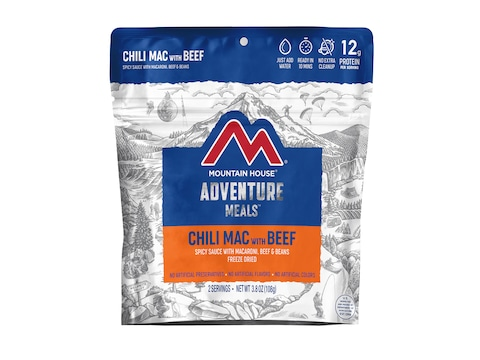 Mountain House Chili Mac with Beef Freeze Dried Food 2 Serving