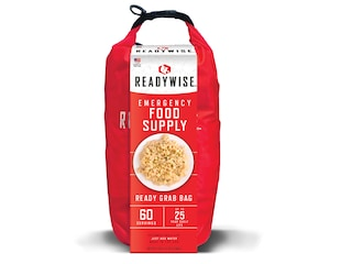 ReadyWise 7 Day Emergency Dry Bag Breakfast and Entrée Grab and GoFreeze Dried Food 60 Serving