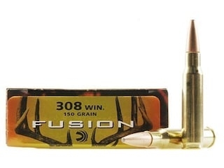 Federal Fusion Ammunition 308 Winchester 150 Grain Bonded Spitzer Boat Tail Box of 20