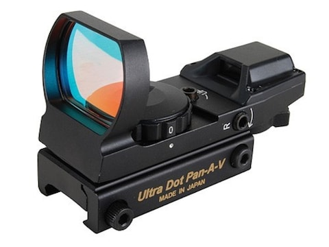 UltraDot Pan-A-V Reflex Red Dot Sight 1x 33mm 4 Reticle with Integral Weaver-Style Base...
