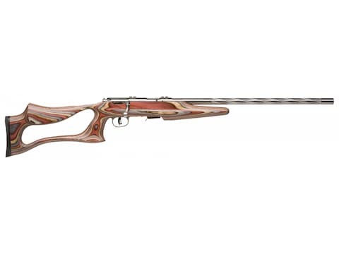 "Savage 93-BSEV Rifle 22 Winchester Magnum Rimfire (WMR) 21"" Fluted Barrel Stainless, La..."