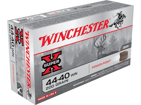 Winchester Super-X Ammunition 44-40 WCF 200 Grain Power-Point Box of 50