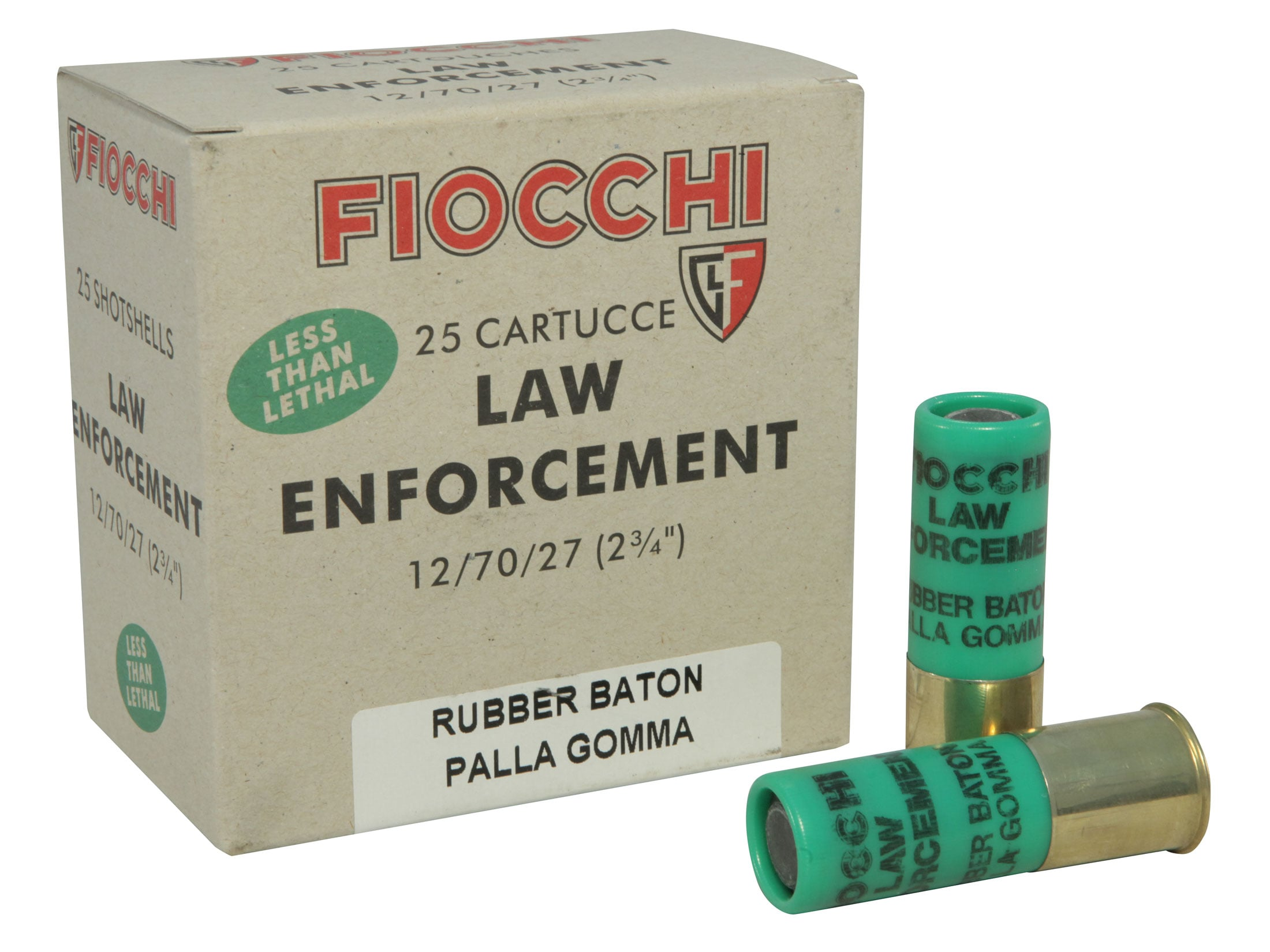 Stupendous Fiocchi Less Lethal Ammo 12 Ga 2 3 4 4 8 Gram Rubber Baton Slug Box Of Caraccident5 Cool Chair Designs And Ideas Caraccident5Info