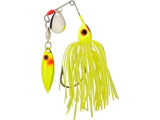 Strike King Mini-King Red Eyed Tandem Spinnerbait 1/8oz Chartreuse Silver/Chart