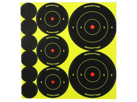 """Birchwood Casey Shoot-N-C Targets 72-1"""", 36-2"""" and 24-3"""" Round Assortment Pack of 10"""