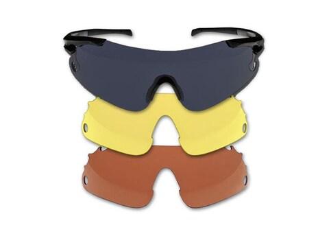 Beretta Trident Shooting Glasses Black Frame Black, Red and Yellow Lenses
